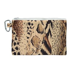 Animal Pattern Design Print Texture Canvas Cosmetic Bag (large)