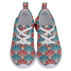 Seamless Patter Peacock Feathers Running Shoes