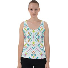 Graphic Design Geometry Shape Pattern Geometric Velvet Tank Top