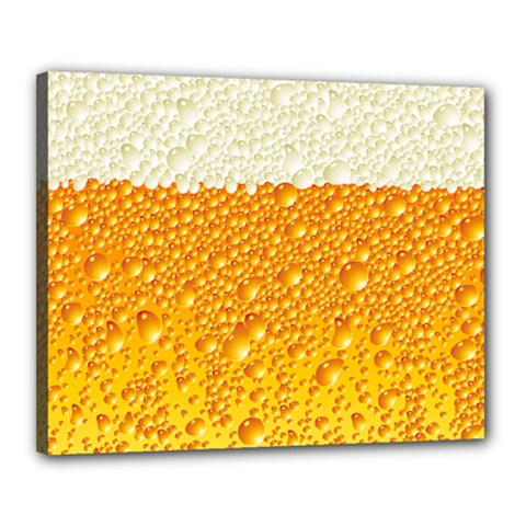 Bubble Beer Canvas 20  X 16  (stretched) by Wegoenart