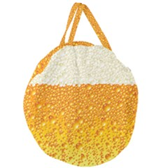 Bubble Beer Giant Round Zipper Tote