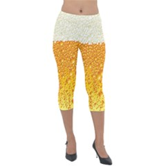 Bubble Beer Lightweight Velour Capri Leggings