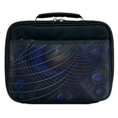 Background Fractal Peacock Pipe Lunch Bag