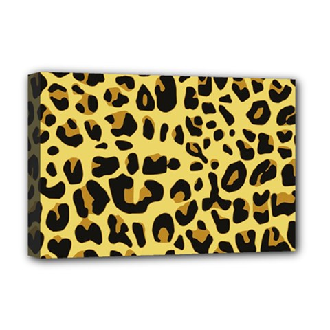 Animal Fur Skin Pattern Form Deluxe Canvas 18  X 12  (stretched)