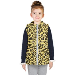 Animal Fur Skin Pattern Form Kid s Hooded Puffer Vest