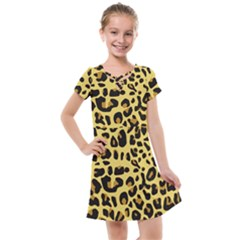 Animal Fur Skin Pattern Form Kids  Cross Web Dress