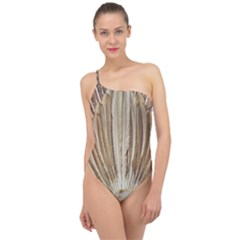Peacock Wheel Bird Nature Classic One Shoulder Swimsuit
