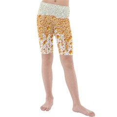 Beer Head Foam Cool Kids  Mid Length Swim Shorts by Wegoenart