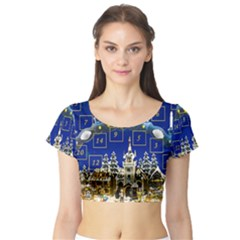 Advent Calendar Advent Gifts Short Sleeve Crop Top