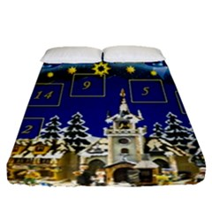 Advent Calendar Advent Gifts Fitted Sheet (queen Size)