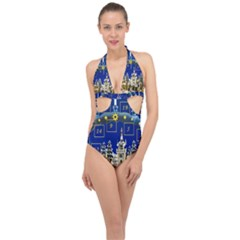 Advent Calendar Advent Gifts Halter Front Plunge Swimsuit