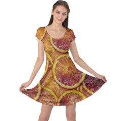 Blood Orange Fruit Citrus Fruits Cap Sleeve Dress