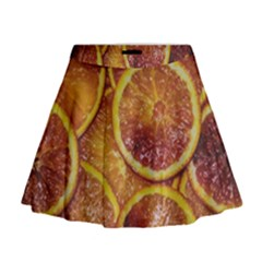 Blood Orange Fruit Citrus Fruits Mini Flare Skirt