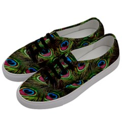 Peacock Feathers Feather Color Men s Classic Low Top Sneakers by Wegoenart