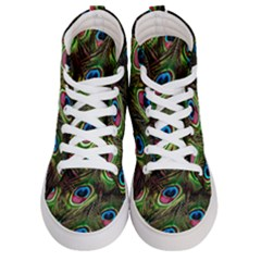 Peacock Feathers Feather Color Men s Hi Top Skate Sneakers
