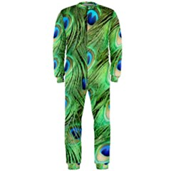 Peacock Feathers Peafowl Onepiece Jumpsuit (men)