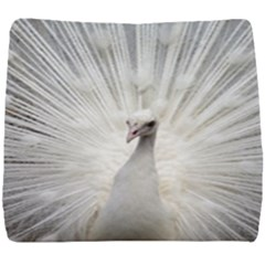 Peacock White Bird Nature Seat Cushion