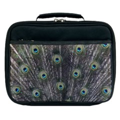 Background Peacock Feathers Lunch Bag