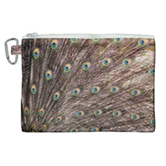Peacock Feathers Wheel Plumage Canvas Cosmetic Bag (xl)