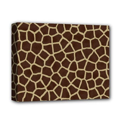 Giraffe Animal Print Skin Fur Deluxe Canvas 14  X 11  (stretched)