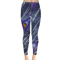 Peacock Feathers Color Plumage Leggings