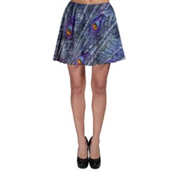 Peacock Feathers Color Plumage Skater Skirt