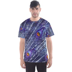 Peacock Feathers Color Plumage Men s Sports Mesh Tee