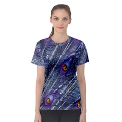 Peacock Feathers Color Plumage Women s Sport Mesh Tee