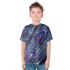Peacock Feathers Color Plumage Kids  Cotton Tee