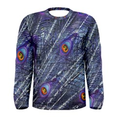 Peacock Feathers Color Plumage Men s Long Sleeve Tee