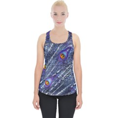 Peacock Feathers Color Plumage Piece Up Tank Top