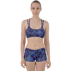 Peacock Feathers Color Plumage Perfect Fit Gym Set