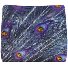 Peacock Feathers Color Plumage Seat Cushion