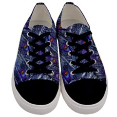 Peacock Feathers Color Plumage Men s Low Top Canvas Sneakers