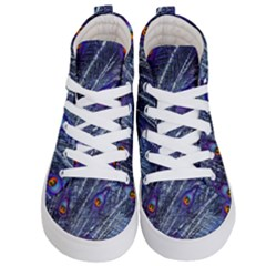 Peacock Feathers Color Plumage Kid s Hi Top Skate Sneakers
