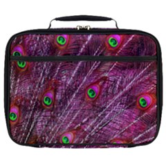 Peacock Feathers Color Plumage Full Print Lunch Bag by Wegoenart