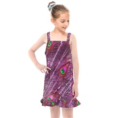Peacock Feathers Color Plumage Kids  Overall Dress