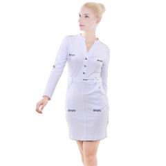 Exotic Wind Triangle Pattern Button Long Sleeve Dress