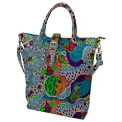 Supersonic Mystic Buckle Top Tote Bag by chellerayartisans