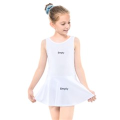 Abstract Loops 5a Kids  Skater Dress Swimsuit