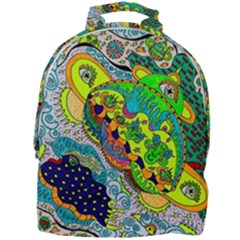 Cosmic Lizards With Alien Spaceship Mini Full Print Backpack by chellerayartisans