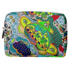 Cosmic Lizards With Alien Spaceship Make Up Pouch (medium)