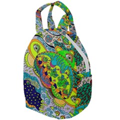 Cosmic Lizards With Alien Spaceship Travel Backpacks by chellerayartisans
