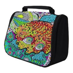 Supersonic Lavahead Lizard Full Print Travel Pouch (small)