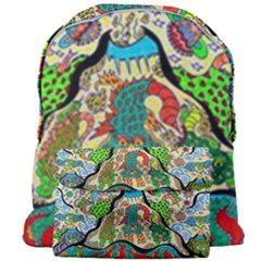 Supersonic Volcanic Sunmoon Faces Giant Full Print Backpack by chellerayartisans