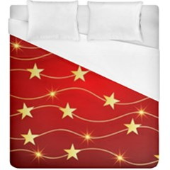 Background Christmas Decoration Duvet Cover (king Size) by Simbadda