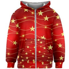Background Christmas Decoration Kids Zipper Hoodie Without Drawstring