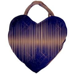 Background Dark Sound Disco Techno Giant Heart Shaped Tote by Simbadda