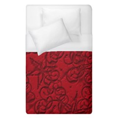 Christmas Background Red Star Duvet Cover (single Size) by Simbadda