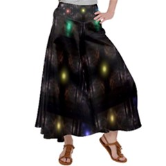Abstract Sphere Box Space Hyper Satin Palazzo Pants